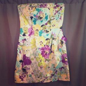 Alyn Paige Floral Strapless Dress
